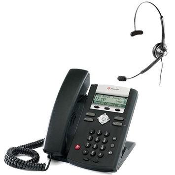 Polycom 2200-12360-001 w/ Headset Option SoundPoint IP 321 2-Line IP Phone w/ AC