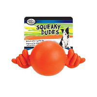 Four Paws Squeaky Dudes Hang Loose Rubber Dog Toy