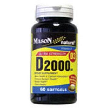 Mason Natural, Vitamin D 2000 IU, 60 Softgels