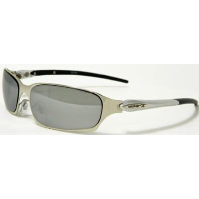 SolarX Men's & Women's Silver Metal Frame Light Weight Comfortable Sunglasses Shades 4096A