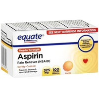 Equate - Aspirin 325 mg, Regular Strength, 100 Tablets, Enteric Coated (Compare to Ecotrin)
