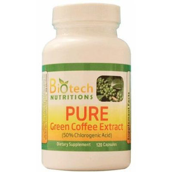 Biotech Nutritions Pure Green Coffee Bean Extract, 120 Count