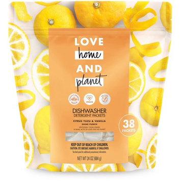 Love Home and Planet Citrus Yuzu & Vanilla Dishwasher Detergent Packets