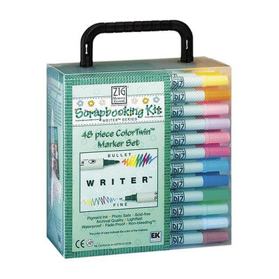 EK Success ZIG Memory System Writer ColorTwin Marker Set 48 Pieces