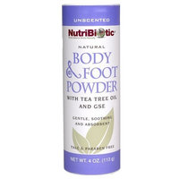 Nutribiotic Body and Foot Powder, Unscented, 4 Ounce