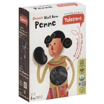 Tolerant Organic Black Bean Penne, 8 oz, (Pack of 6)