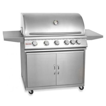 Blaze Outdoor Products 5-Burner Natural Gas Grill With Rear Infrared Burner On Cart