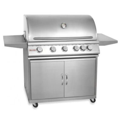 Blaze Outdoor Products 5-Burner Propane Gas Grill With Rear Infrared Burner On Cart
