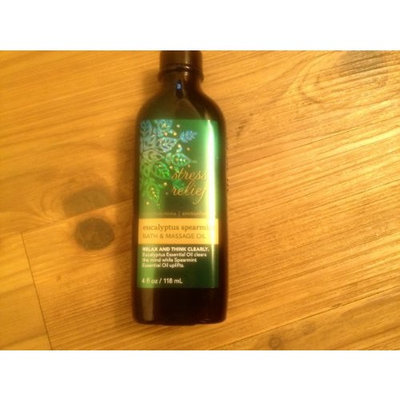 Bath Body Works Bath & Body Works Aromatherapy Stress Relief Eucalyptus Spearmint Massage Oil 4 Fl Oz