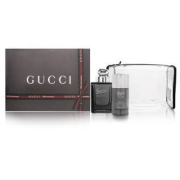 Gucci by Gucci Pour Homme 3 Piece Set Includes: 3.0 oz Eau de Toilette Spray + 2.4 oz Deodorant Stick + Toiletry Bag