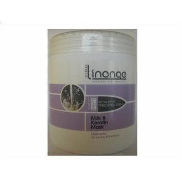 Linange Milk & Keratin Mask 1000ml(SEALED JAR WITH PLASTIC TUBE!!!)
