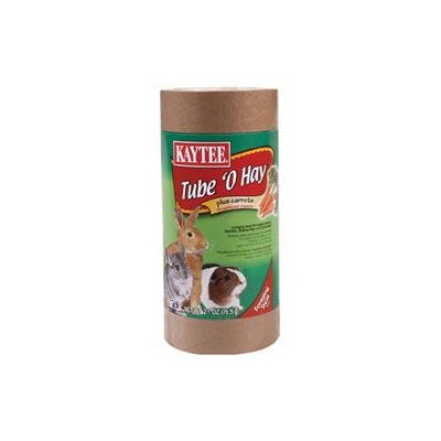 Kaytee Products Inc - Tube O Hay Plus- Carrot 2.7 Ounce
