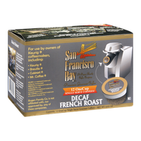 San Francisco Bay Single Serve Coffees Decaf French Roast - 12 CT