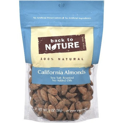 Back To Nature California Almonds, Sea Salt Roasted, 11-Ounce Pouches (Pack of 3)