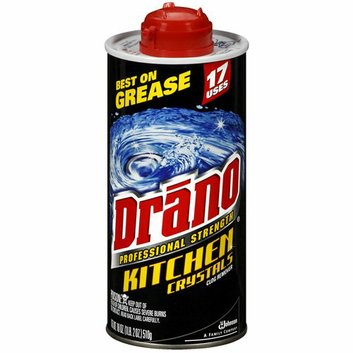 J Wax 20113 Drano Crystal 18 oz.  - Pack of 6