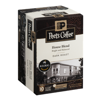 Peet's Coffee House Blend Dark Roast K-Cup Packs - 10 CT