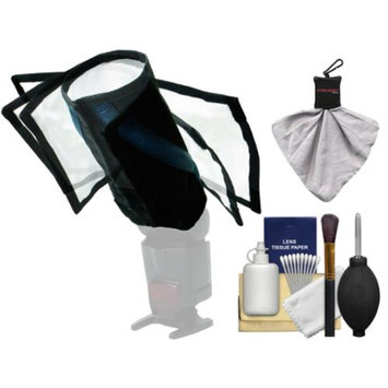 Rogue FlashBender Bendable Large Positionable Flash Reflector / Snoot with Attachment Belt + Digital SLR Camera & Lens Cleaning Kit
