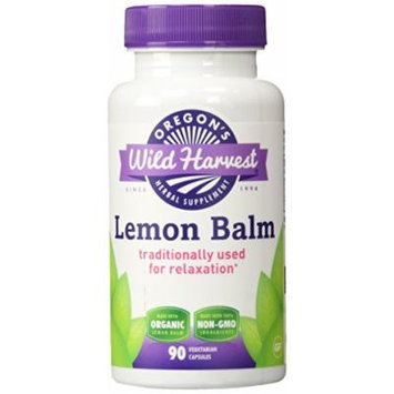 Oregon's Wild Harvest Lemon Balm Organic Supplement, 90 Count, 90 Fluid Ounce