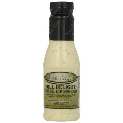 Dinni's Select Dill Delight Sauce, Dip, Spread, 12-Ounce Bottles (Pack of 3)
