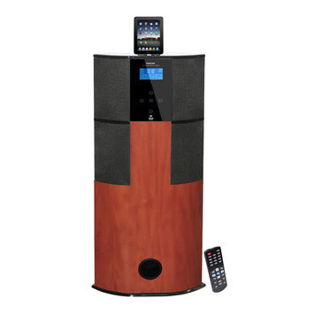 Pylehome PyleHome PHST94IPCW 600 Watt Digital 2.1 Channel Home Theater Tower - Cherry Wood
