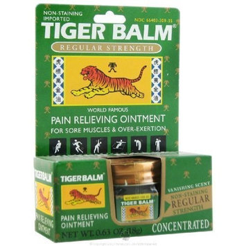 Tiger Balm Pain Relieving Ointment Regular Strength 0.63 OZ