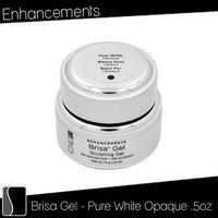 Cnd Cosmetics Creative Nail Brisa Gel Opaque False Nails, Pure White 0.5 Fluid Ounce
