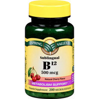 Spring Valley Vitamin B12 Sublingual 500 mcg