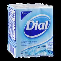 Dial Soap Antibacterial Deodorant Soap Bars Spring Water - 3 CT