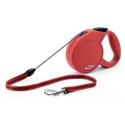 Flexi Explore Retractable Dog Leash in Red, Medium
