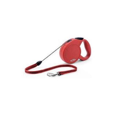 Flexi Explore Retractable Dog Leash in Red, Medium