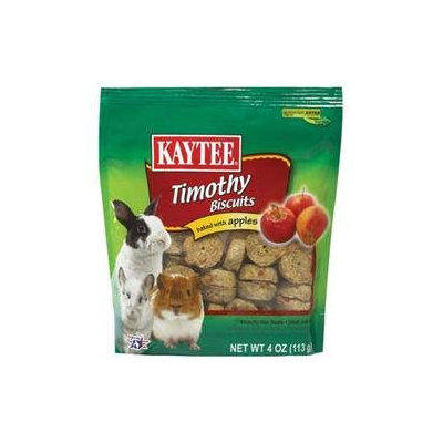 Kaytee Products Inc - Timothy Hay Baked Small Animal Treat- Apple 4 Ounce