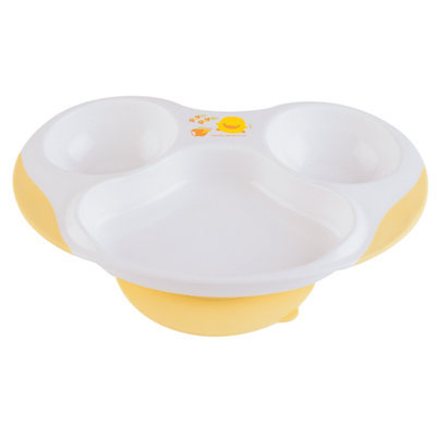 Cam Consumer Products, Inc. Piyo Piyo USA Slip Proof Three-Section Dining Plate