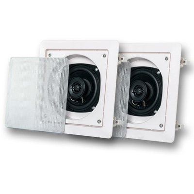 Acoustic Audio AS6S 200W Pair of Home Theater In-Wall/Ceiling Surround Speakers