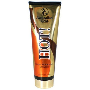 Australian Gold Hot with Bronzer Fourth Dimension Bronzers Tanning Lotion 8.5 oz.