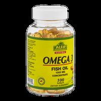 Alfa Vitamins Omega 3 Fish Oil Softgels 1000 MG - 100 CT