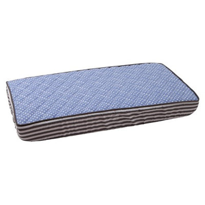 Bacati Pin Dots Changing Pad Cover, Elephant Blue/Grey