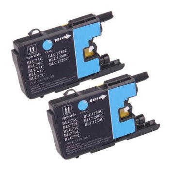 Discountbatt Superb Choice? Compatible ink Cartridge for Brother LC75C(Pack of 2 Cyan) use in Brother MFC-J5910DW Printer
