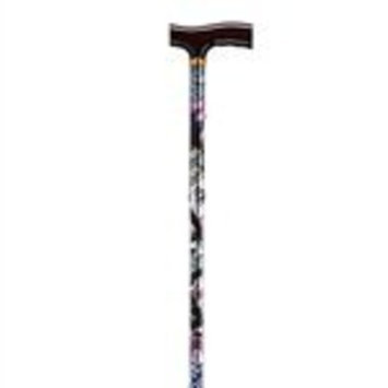 Drive Medical 10304CAG-1 Lightweight Adjustable Folding Cane with T Handle, Casino Game