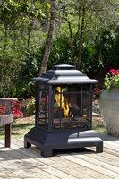 Fire Sense - Rectangle Pagoda Patio Fireplace - Black