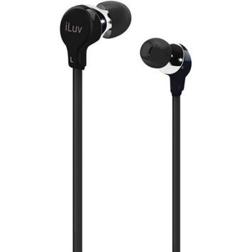 Jwin Electronics Corporation iLuv IEP314BLK NP Ergo and Comfort Earphones Flatwire (IEP314BLK)