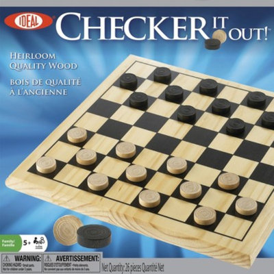 Alex Brands Ideal 37255BL Checker It Out! Wood Checker Game