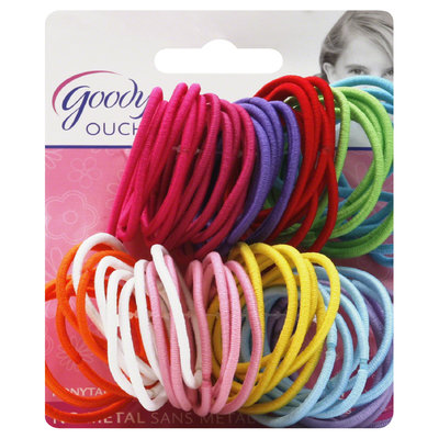 Goody Products Inc. Girls Ouchless 2mm Elastics, 72 CT