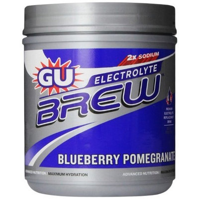 G.U. GU Brew Electrolyte Energy Drink Mix, Blueberry Pomegranate, 16-Count