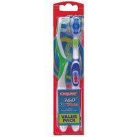 Colgate 360 Degree Adult Full Head, Medium Twin Powered Toothbrush, 2-Count