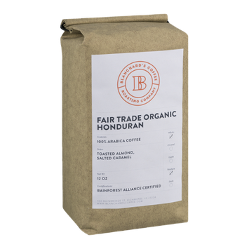 Blanchard's Fair Trade Organic Honduran 100% Arabica Coffee Whole Bean Medium