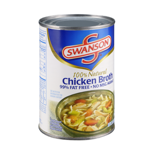 Swanson 100% Natural 99% Fat Free No MSG Added Chicken Broth