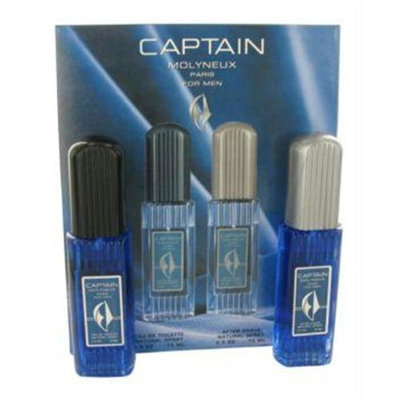 Molyneux 412510 Captain by Molyneux Gift Set - 2.5 oz Eau De Toilette Spray plus 2.5 oz After Shave