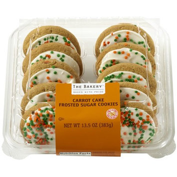 Wal-mart Bakery The Bakery Carrot Cake Frosted Sugar Cookies, 10 count, 13.5 oz.