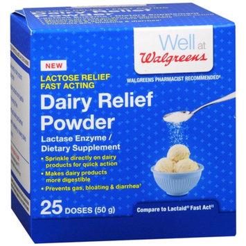 Walgreens Dairy Relief Powder, Lactase Enzyme, Flavor Free, 1.76 oz