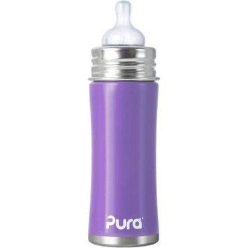 Pura Kiki 11 Ounce Infant Bottle Natural Vent Nipple - Lavender